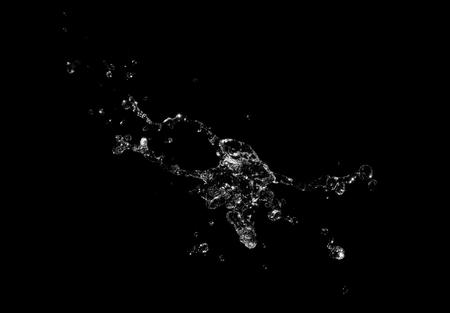 Water splash on black background 免版税图像