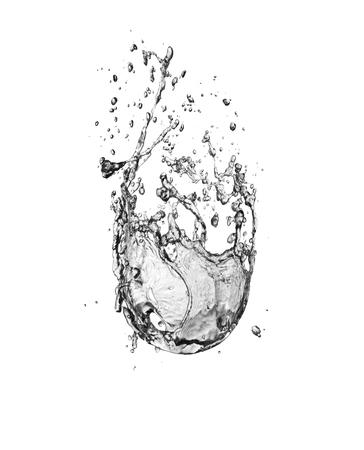 water Splash isolate On White Background Foto de archivo - 122199642
