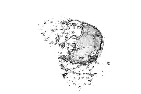 Water splash on white background 免版税图像