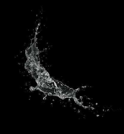 water splash isolated on black background.
