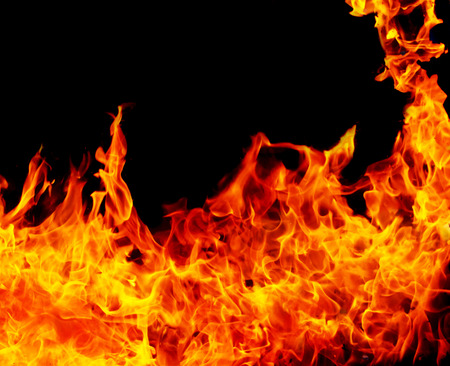 Fire background Foto de archivo - 124349908