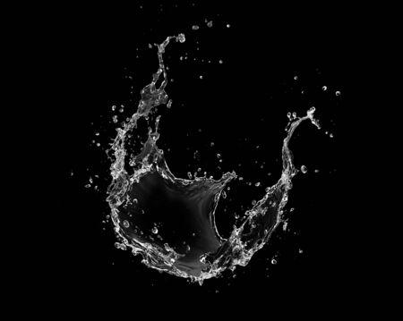water Splash isolate On Black Background. 免版税图像