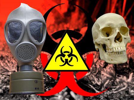 attentions: bio hazard gas mask