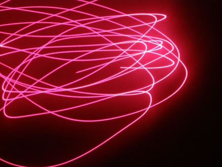 contrastive: laser effect Stock Photo