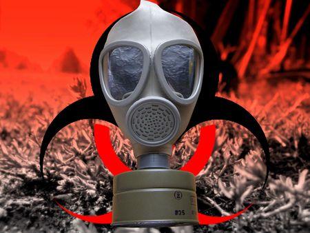 imminence: riesgo de bio de ataque de gas Foto de archivo