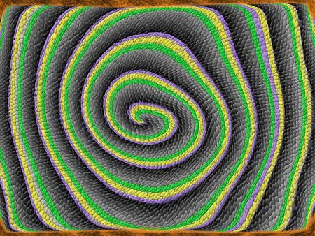 interesting music: spiral snake scaly skin