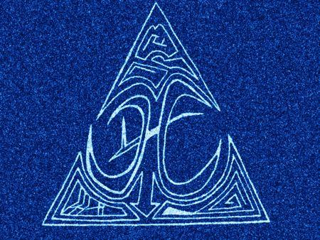 piebald: blue grit ornament