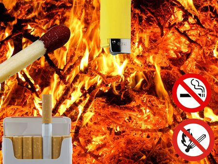 attentions: fire attention Stock Photo