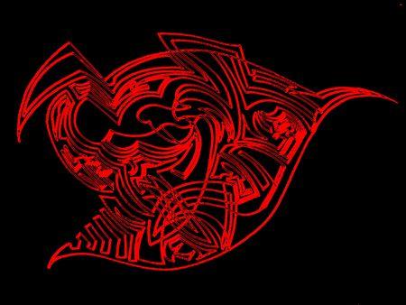 contrastive: Red design ornament