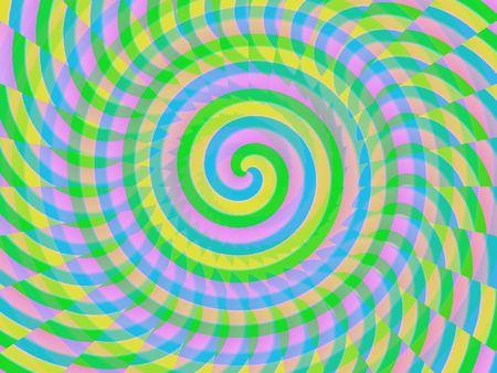 interesting music: hypnoptize coloured spiral Stock Photo