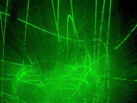 anomalous: green laser show