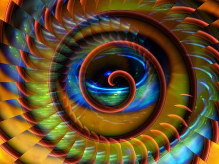 extraordinary: magical space spiral background Stock Photo