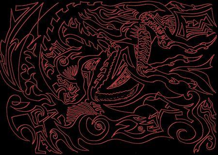 interesting music: red illustration