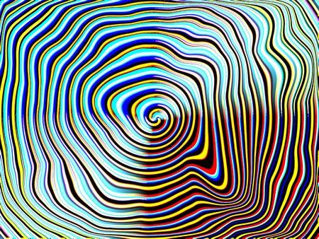 interesting music: crazy spiral Stock Photo