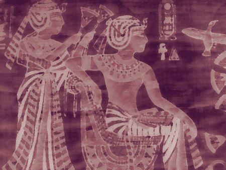 contrastive: Old Egypt background Stock Photo