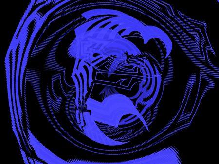 imminence: Fondo de ornamento azul