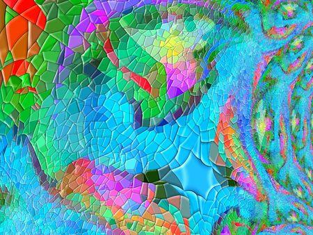 contrastive: Crazy mosaic background Stock Photo