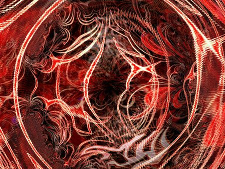 interesting music: Red ornament illustration