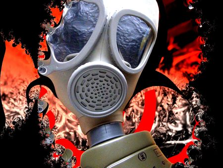 attentions: Tactical nuclear background Stock Photo