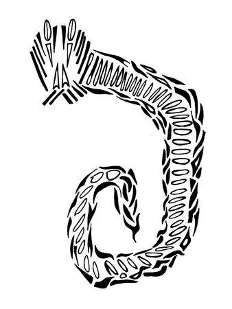 contrastive: Tattoo snake