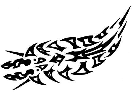 contrastive: Tattoo animal Stock Photo