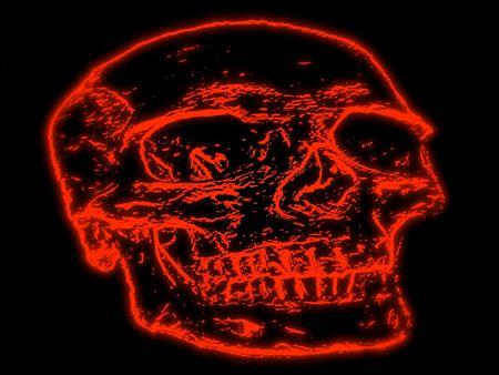 Red skull illustration background Stock Illustration - 6759089