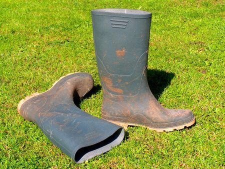 rubber boots photo
