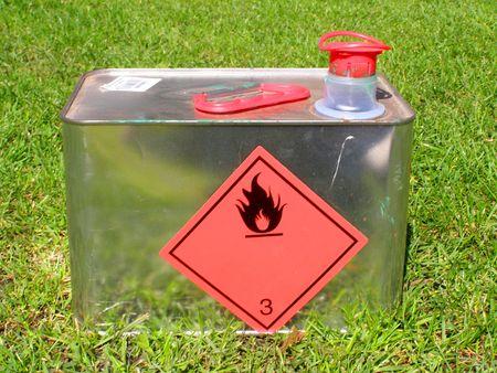 líquido inflamable puede  Foto de archivo