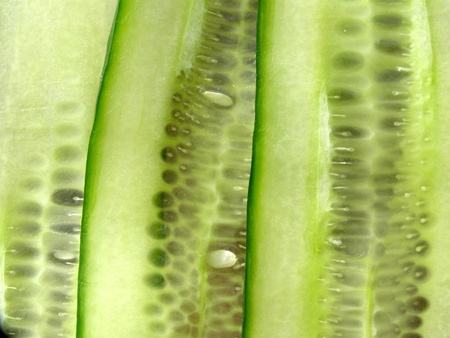contrastive: slices of cucumber Stock Photo