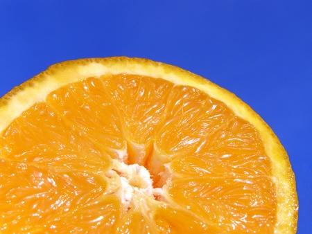 contrastive: orange and sky Stock Photo