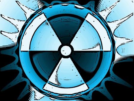 radiactividad: s�mbolo de la radiactividad Foto de archivo
