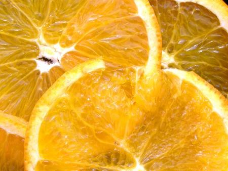 sliced oranges background Stock Photo - 12655295