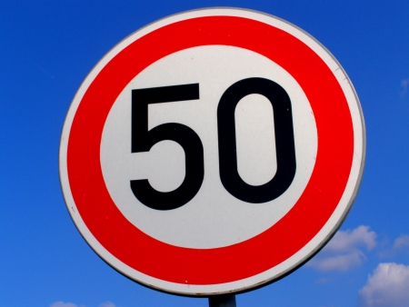sign 50 speed limit photo
