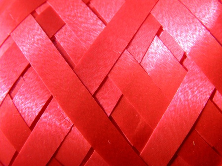 contrastive: red streamer background Stock Photo