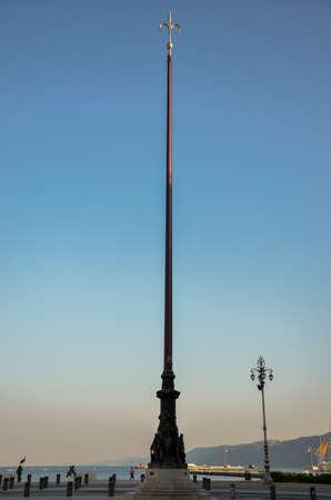 trieste: Monument in Trieste Stock Photo