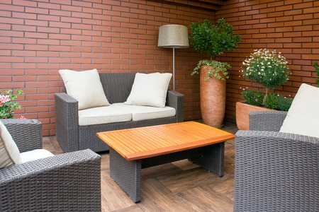 garden furniture: Picture of outdoor furniture in the garden