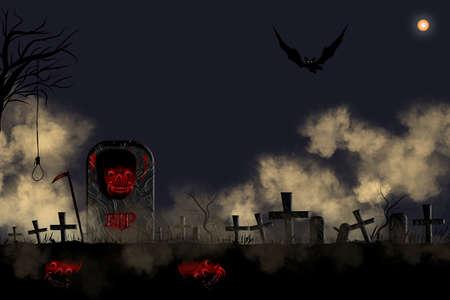Halloween, illustration, vector graphic