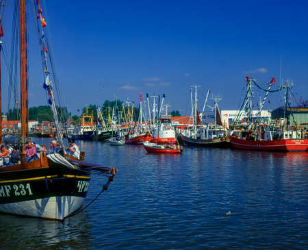Fishing port of Büsum, Schleswig-Holstein, Germany