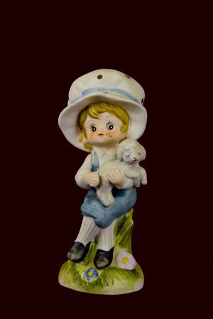 statute: Statute of Mary Had a Little Lamb Stock Photo