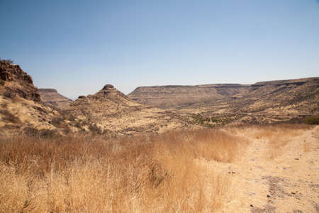 ices: African Mountains Stock Photo