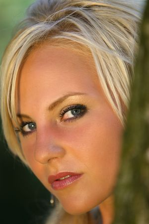 Portrait of a blond german girl with nice eyes photo