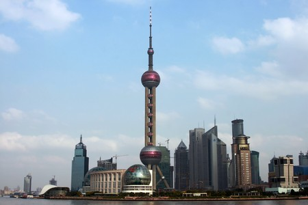 Shanghai Pudong complete including HangPu River Stock Photo - 4163177