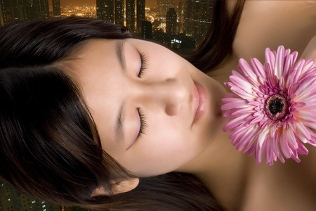 antiaging: Relaxing after a hard working day in the big city. Visit a massage and pamper Parlour and enjoy the rest of the day