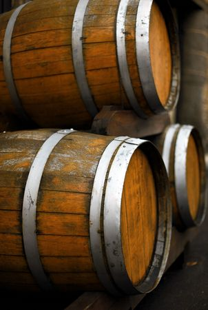 barrel with vine in germany - Mosel - Donau - Rheinland