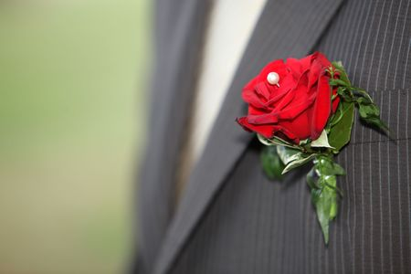 fiance: bouquet of bridegroom groom, fiance Stock Photo