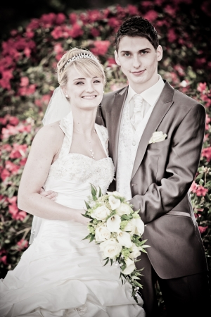 Just married couple - artwork photo