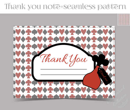 thank you note: Thank you Note - Bottle from Wonderland.  Printable Vector Illustration for Graphic Projects, Parties and the Internet.