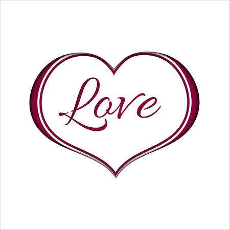 Pink Heart on White Paper Background for a Valentine Day. Can be used for Love Valentine Letter, Card, Valentines day Celebration, design, etc. 矢量图像