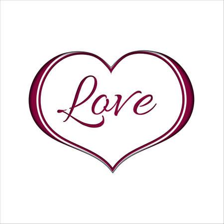 Rosa Herz auf Weißbuch-Hintergrund für einen Valentinstag. Kann für Liebes-Valentinsgruß-Brief, Karte, Valentinsgrußtagesfeier, Entwurf, etc. benutzt werden.