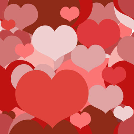 Seamless Red and Pink pattern for a Valentine Day with Overlapped Hearts. Can be used for a Love Valentine Letter, Card, Valentines day Celebration, design, wrapping, etc.